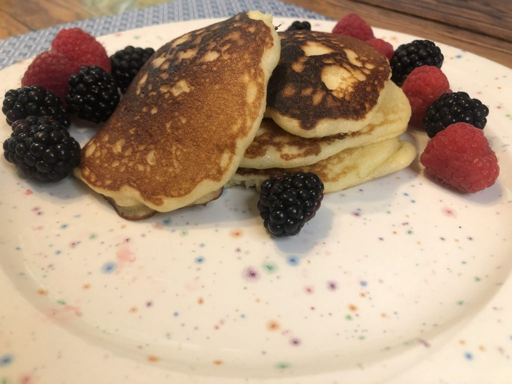Welsh Recipe: Crempog, sweet and hearty pancakes with berries