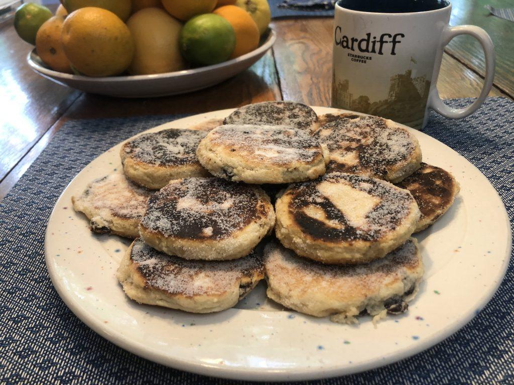 Welsh Recipe: a plate of Welsh Cakes/Cacennau Cri